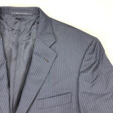 Burberry London Men's Bond Street Blazer Navy Blue Pinstripes • 44 R