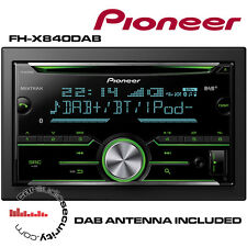Pioneer FH-X840DAB - CD USB Bluetooth DAB + Antena DAB-A1 de Apple Android estéreos