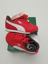 PUMA Roma Basic Red White Toddler Kids Sneakers Tennis Shoes 359842 20 Size 8c