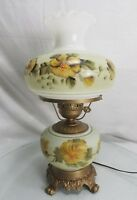 Vintage Gone with the Wind Hurricane Table Lamp Banquet oil kerosene Ruffle Top