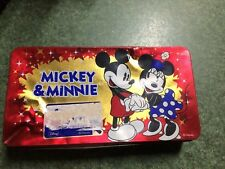 Disney Mickey and Minnie empty biscuit tin - McVitie's cookies and cream biscuit