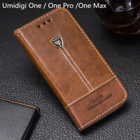 Pu Leather Phone Case Wallet Flip Stand Back Cover Bag For Umidigi One Pro Max
