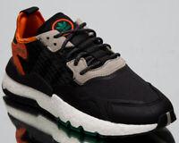adidas Originals Nite Jogger Men's Black Grey Orange Lifestyle Sneakers Shoes