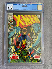 X-Men #57 CGC 7.0 - Sentinels app - Marvel Girl featurette