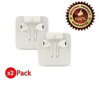 Apple Lightning Earpods Headphones Original OEM Earbuds iPhone 7 Plus 8+ X (2x)