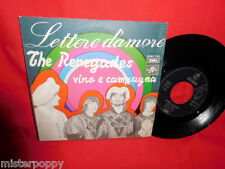THE RENEGADES Lettere D'Amore 45rpm 7' + PS 1968 ITALY BEAT MINT Elvis Presley