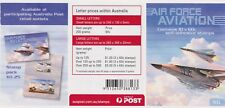 Australia Stamps Booklet Unfolded 2011 Air Force Aviation F-111 B481 10x60c