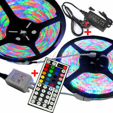 10M 3528 SMD RGB 600 LEDS WATERPROOF FLEXIBLE STRIP LIGHT+12V 5A POWER+REMOTE