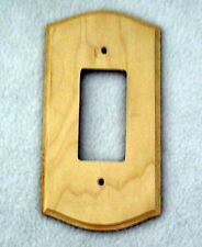 Birch unfinished wood 1 ROCKER SWITCH COVER  wall plate craft supply C58