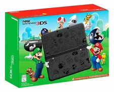Nintendo 3DS Super Mario Black Limited Edition Nintendo 3DS 16GB + Charger NICE!