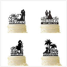 Couple Wedding Cake Topper Customized Last Name and Date Party Decorations