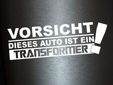 1 x 2 Plott Aufkleber Vorsicht Dieses Auto ist ein Transformer Sticker Tuning