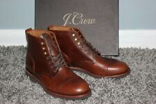 J.CREW $248 Kenton Leather Cap Toe Boots 9 Burnished Tobacco Shoes  f4446 brown