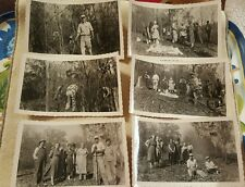 Lot of 6 Black and white Photographs pictures Cemetery Clean up 1960, dinner