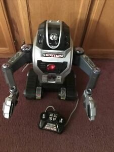 "EZ-Tec Scientific Toys ""Buster"" Remote Control Robot Rare Hard to Find Works!!!"