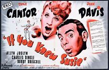 IF YOU KNEW SUSIE 1948 Eddie Cantor, Joan Davis TRADE ADVERT