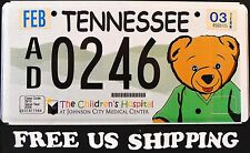 "FREE US SHIP TENNESSEE "" TEDDY BEAR CHILDREN HOSPITAL "" Specialty License Plate"