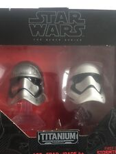 NEW-Star Wars TITANIUM Series Die-Cast Metal Helmets Cpt. PHASMA & STORMTROOPER