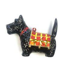 Blown glass Christmas ornament Scottish Terrier Scottie Dog Xmas holiday puppy
