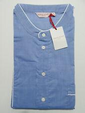 DEREK ROSE MENS NIGHTSHIRT - XXL - 100% COTTON - RRP. £140 PULLOVER AMALFI BLUE