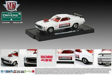 WHITE 1970 FORD MUSTANG BOSS 429 M2 MACHINE 1:64 SCALE DIECAST METAL CAR