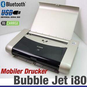 Mobile Printer Canon Bubble Jet i80 Wireless Bluetooth All Windows Black White