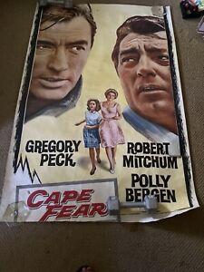 Vintage U.S Subway Original Movie Poster Cape Fear Rare 60 x 40  1962