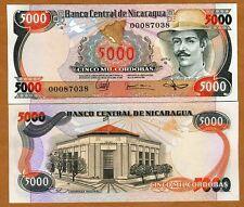 Nicaragua, 5000 cordobas, L. 1985 P-146, UNC