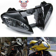 YZF R6 Front Headlight Clear Head Lamp Assembly For Yamaha YZFR6 2006 2007 06 US
