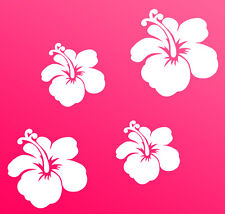 Autocollants Pour Voiture Hibiscus Fleurs Papillons Hawaï WANDTATTOO 4 a mural