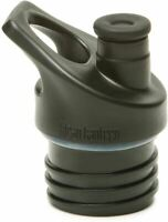 Klean Kanteen Sport Cap 3.0 in Black with Silicone Spout and Attachment Loop