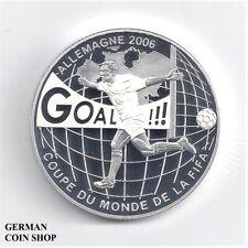Kongo Congo 10 Francs 2004 FIFA World Cup 2006 Silber PP Fußball - silver soccer