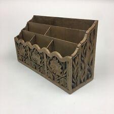 Lerner Melville NY Faux Wood Vintage Tabletop Desk Letter Mail File Organizer