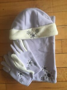 Lilac Hat Scarf And Gloves Matching Set