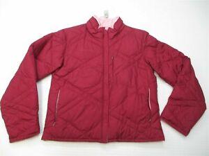 COLUMBIA Jacket Women's Size M Down Insulated Ski Snow REVERSIBLE Zip Burgundy