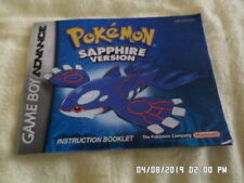 Pokemon Sapphire Version (Gameboy Advance) GBA Instruction Manual Only.. NO GAME