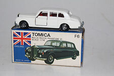 TOMICA POCKET CARS #F6 ROLLS ROYCE PHANTOM VI, SCARCE WHITE, EXCELLENT, BOXED #2