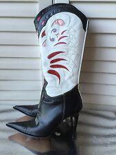 Goffredo Fantini Rare Cowboy heels boots 38/38.5