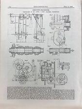 Grinding Machines Made In Birmingham: 1908 Engineering Magazine Print