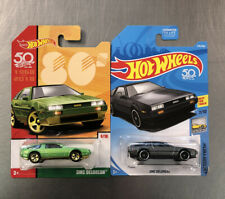 Hot Wheels Dmc Delorean ( Lot Of 2 ) Colors Gray & Green Target Exclusive.