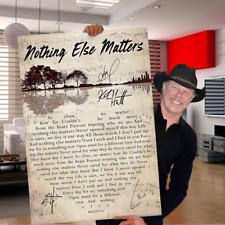 Metallica Nothing Else Matters Lyrics Music Signature Poster No Frame