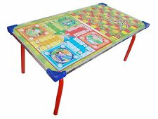 2 In 1 Kids Board Game Table Ludo Snake & Ladder Bed Study Laptop Support Table