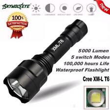 5000Lm C8 XM-L T6 LED 18650 Flashlight 5 Mode Torch Tactical Light Lamp BK