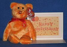 TY MC MASTERCARD ANNIVERSARY #5 BEAR with CARD - MINT with MINT TAGS