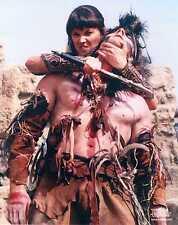 Xena Photo Club July 2000 Jul 00 8x10 photograph Xena fights Horde warrior