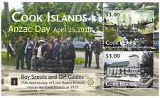 Cook Islands Anzac Day - 22nd World Scout Jamboree Souvenir Sheet - Silver Ovpt