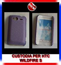Custodia COVER+Pellicola MESH VIOLA per HTC WILDFIRE S G13