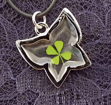 "Real four leaf clover with butterfly cord 19"" with extension"
