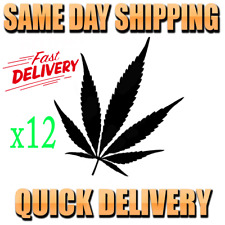Cannabis Marijuana Weed Leaf Self Adhesive Stencil Sticker Decal Window Wall x12