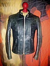 Superb Vintage  SCHOTT  Cafe Racer Motorcycle Bucklebacks Leather Jacket.Size 36